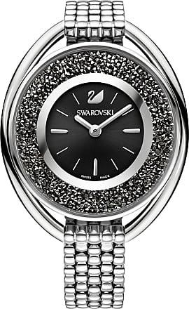 Swarovski Relógio Crystalline Oval Pulseira, Preto