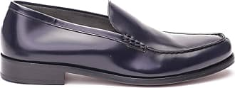 Doucal's Brushed Leather Loafers, 41 Dark Blue