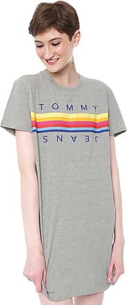 Tommy Jeans Vestido Tommy Jeans Curto Arco-íris Cinza