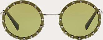 Valentino Valentino Occhiali Occhiale Da Sole Tondo In Metallo Con Cristalli Donna Verde Chiaro Metallo 100% OneSize