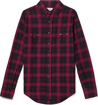 Saint Laurent Checked Cotton-blend Flannel Shirt - Red