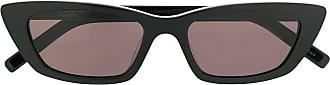 Saint Laurent Eyewear Óculos de sol retro slim - Preto