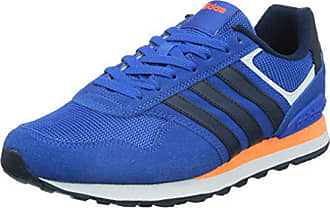 56f4de7e24a98a adidas Neo Herren 10k Low-Top Blau (Blue Collegiate Navy Solar Orange