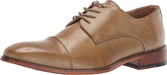 Kenneth Cole Reaction Mens Blake Cap Toe Lace Up Oxford, Tan, 9.5 UK