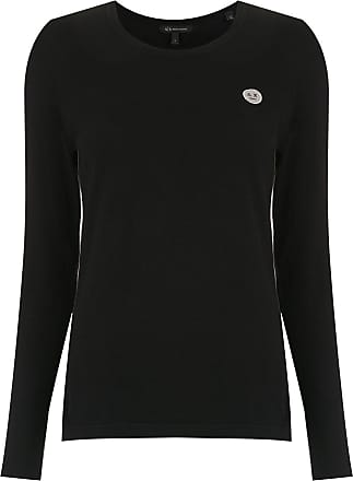 A|X Armani Exchange Blusa tricô com bordado - Preto
