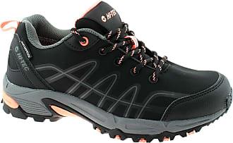 Hi-Tec Corvus Low Womens Waterproof Multi-Sport Shoes UK4-8 (UK 4, Black/Coral)