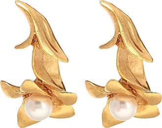 Oscar De La Renta Pearl Flower earrings