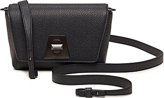 MQaccessories Little Day Bag in Cervocalf Leather with Graphite Colored Hardware
