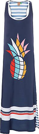 Farm Vestido Abacaxi Gráfico - Azul