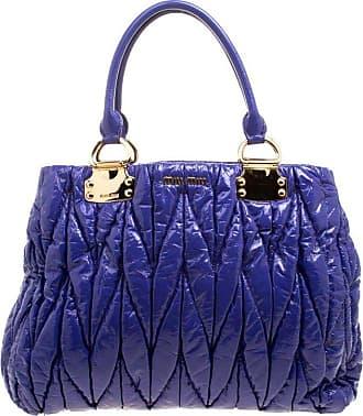 cf6c2c5d19ef Miu Miu Miu Miu Lilac Matelasse Patent Leather Shopper Tote