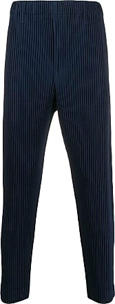 Homme Plissé Issey Miyake ribbed tapered trousers - Blue