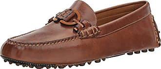 Donald J Pliner Mens Riel Slip-On Loafer, Brown Waxy Calf, 8 M US