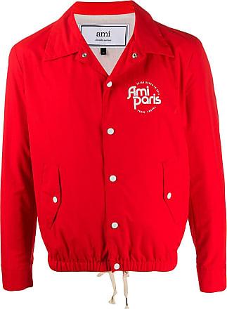 Ami logo bomber jacket - Vermelho