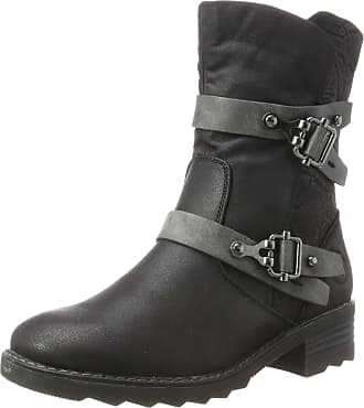 Marco Tozzi Womens 26432 Biker Boots, Black (Black Ant.Comb), 6.5 UK