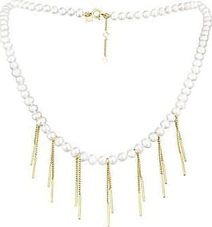 Misaki Collier Seltz de perles de culture blanches doré
