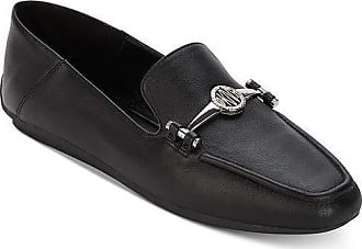 DKNY Womens Mocassin Leather Square Toe Loafers, Black, Size 6.5 US / 4.5 UK US