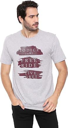 Iodice Camiseta Iódice Lettering Cinza