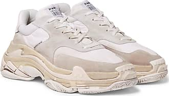 Balenciaga Triple S Shell And Suede Sneakers - Neutral