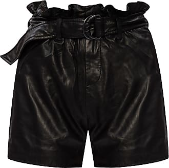 Allsaints Erica Leather Shorts Womens Black
