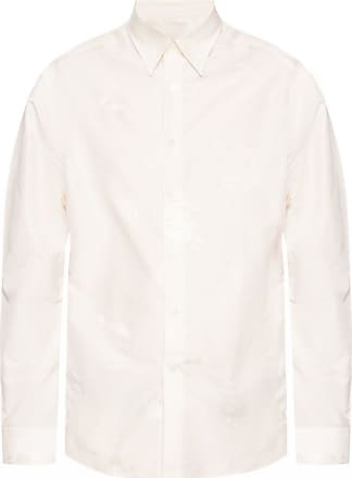 Lanvin Patterned Shirt Mens Cream