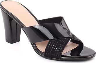 Unze Unze Women Sawyer Butterfly Strap Semi-Formal Slip on Casual Embellished Outdoor Open Toe Block Heel Slip On Sandals UK Size 3-8 - F98763-23 Black