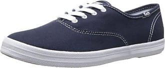 Keds Womens Champion Original Canvas Lace-Up Sneaker, Navy, 9 XS US