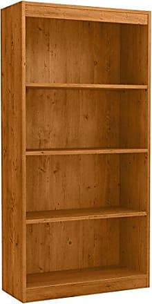 South Shore Furniture 4-Shelf Storage Bookcase, Country Pine