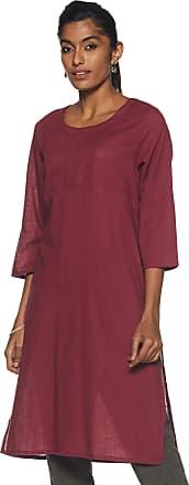 Indigo Womens Straight Fit Kurti (AW17RJA -M_Maroon_X-Large)