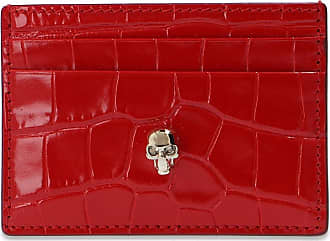 Alexander McQueen Skull Card Case Womens Red