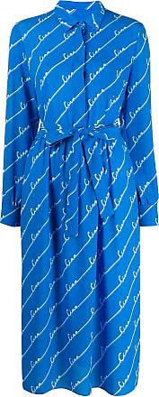 Chinti and Parker Vestido estampa Ciao - Azul