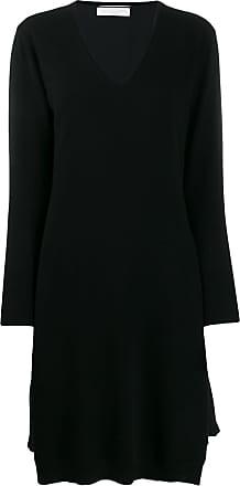 Fabiana Filippi pleated detail midi dress - Black