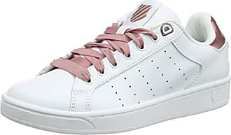 K-Swiss Womens Clean Court CMF Sneaker, White/Old Rose, 5 M US