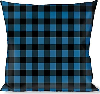 Buckle Down Pillow Decorative Throw Buffalo Plaid Black Turquoise