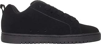 DC Mens Court Graffik Skateboarding Shoes, (Black/Black/Black), 8.5 UK