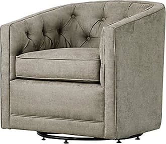 New Pacific Direct 1900101-158 Walsh Fabric Swivel Accent Chairs, One Size, Gray