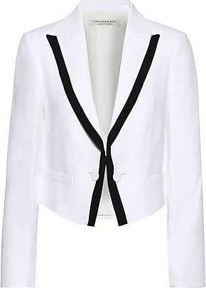 Philosophy di Lorenzo Serafini Philosophy Di Lorenzo Serafini Woman Cropped Cady Blazer White Size 42