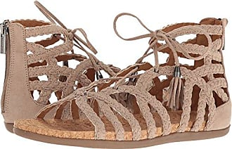 Kenneth Cole Reaction Womens Slim Loop Gladiator Sandal, Taupe, 6 M US