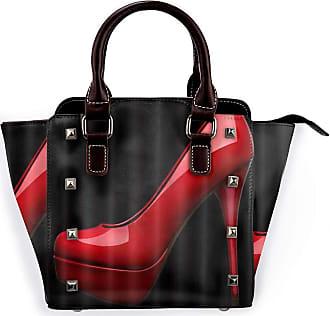Browncin Red High Heels Detachable Fashion Trend Ladies Handbag Shoulder Bag Messenger Bags