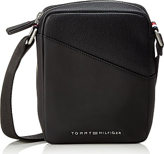 8ca431769de Tommy Hilfiger Th Diagonal Mini Reporter, Mens Shoulder Bag, Black, 5x20x15  cm (