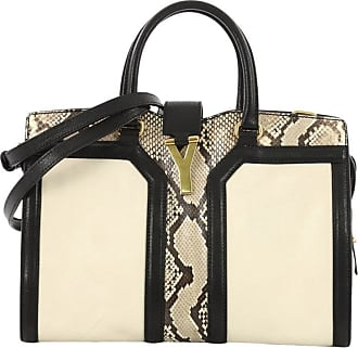 abfbc796030 1stdibs Saint Laurent Chyc Cabas Tote Leather And Python Small