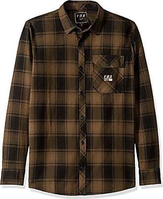 Fox Mens VOYD Flannel, Coffee, XL