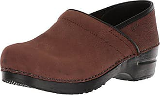 Sanita Womens Professional Oil Closed Oiled Leather Antique Brown Leather Clog - 43