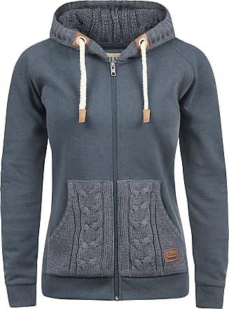 Melange Grey Hoodie for Women Small Womens Zipper Zip Up Cotton Sweatshirt