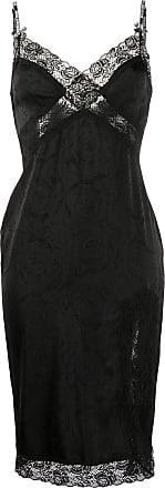 Versace Jeans Couture Vestido com detalhe de renda - Preto