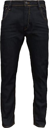 883 Police Mens Brade Rugby Slim Fit Straight Leg Button Fly Denim Jeans Dark Navy W32/33L