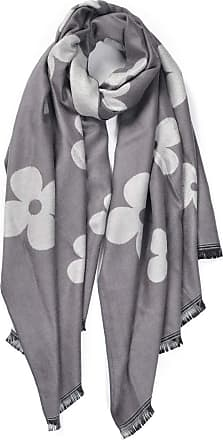 Your Dezire Four-Leaf Clover Printed Pashmina Scarf Large Shawl Winter Scarve Celebrity Style Wraps (Grey)