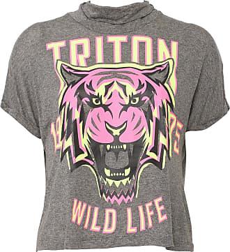 Triton Blusa Triton Wild Life Cinza