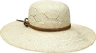 ále by Alessandra Womens Paloma Sisal Straw Hat With Leather Trim, Ivory, One Size