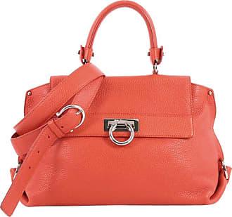Salvatore Ferragamo Sofia Satchel Pebbled Leather Medium 283c54a81c411