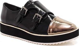 Zariff Sapato Zariff Shoes Oxford Flatform Monk Strap